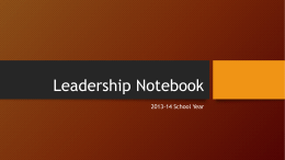 Leadership Notebook Template - lead21-ssms