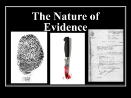 The Nature of Evidence