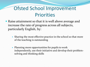 School Improvement Priorities - Brenchley and Matfield Church of