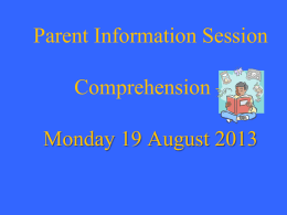 Comprehension Workshop T3