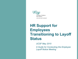 HR Support for Employees Transitioning to Layoff Status