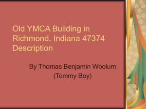 Old YMCA Building in Richmond, Indiana 47374