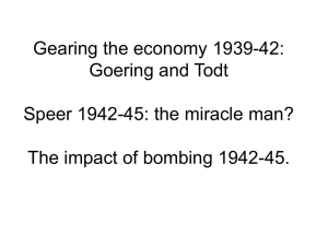 Gearing the economy 1939-42: Goering and Todt