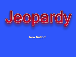 POWERPOINT JEOPARDY - Sope Creek Elementary