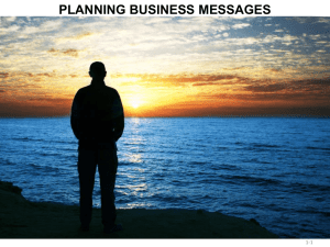 Planning Business Messages