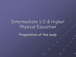 Intermediate 2 & Higher Grade Physical Education