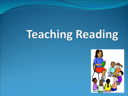 teaching reading for primary