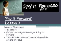 `Pay it Forward` Lesson 3 - Hertfordshire Grid for Learning