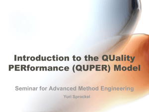 Introduction to the QUality PERformance (QUPER) Model