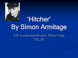 Hitcher By Simon Armitage