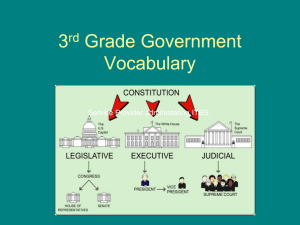 Government Vocabulary Revised