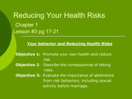 Reducing Your Health Risks
