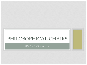 Philosophical Chairs - Mountainview Christian School