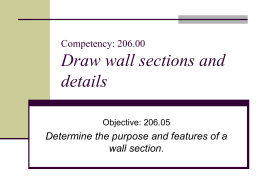 206.05 Wall Section Features