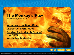 The Monkey`s Paw Introduction PPT