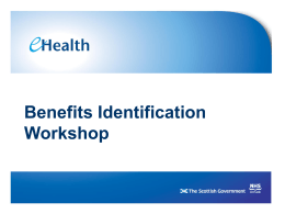 Benefits Identification Workshop – Slides