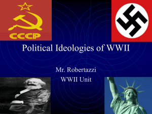 Political Ideologies of WWII