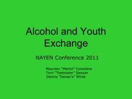 Alcohol and Youth Exchange