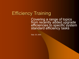 Efficiency Training - Johnstone DS`s Real