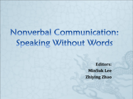 Nonverbal Communication: Speaking Without Words