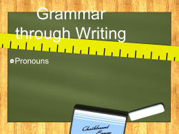 Grammar through Writing