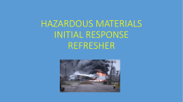 HAZARDOUS MATERIALS INITIAL RESPONSE REFRESHER
