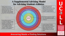 Athletic Advising Model Concept