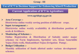 Chatisgarh - Department of Agriculture & Co