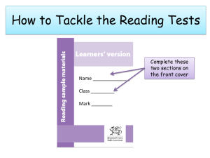 How to tackle the reading tests