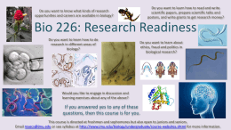 Bio 226: Research Readiness