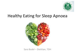Healthy eating for sleep apnoea patients