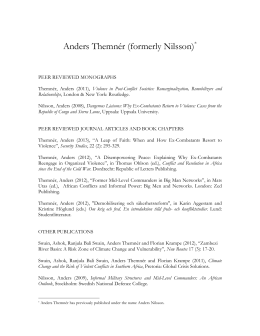 Anders Themnér - list of publications