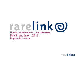 RARELINK – An example of a Nordic cooperation within rare diseases