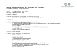 nordisk workshop i ekonomi- och verksamhetsstyrning 2014