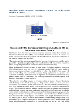 Statement by the European Commission, ECB