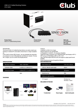 USB 3.0 Y-Cabled Docking Station CSV-3203