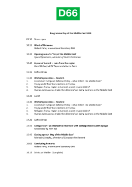 Programma Day of the Middle-East 2014 - Internationaal