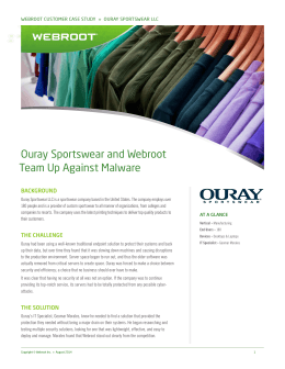 Ouray Sportswear and Webroot Team Up Against Malware