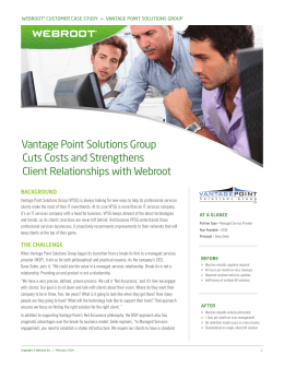 Vantage Point Solutions Group Cuts Costs and