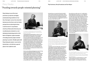 "Patsy Healey ""Puzzling towards people-oriented planning"""