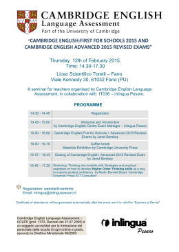 cambridge english advanced 2015 revised exams