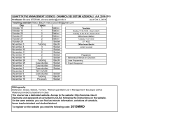 QMS - Contents and timetable_Oct2_2014
