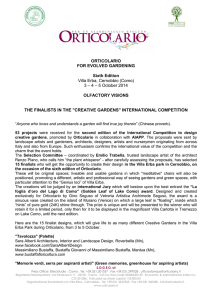 """Creative Gardens"" International Competition ()"