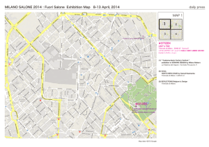 MILANO SALONE 2014:Fuori Salone Exhibition Map 8