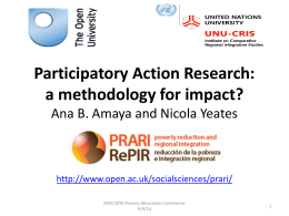 PRARI workshop on participatory methods
