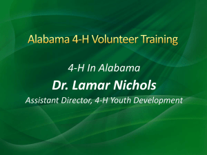 Alabama 4-H Volunteer Training
