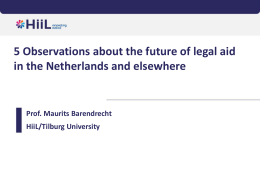 5 Observations about the future of legal aid in the