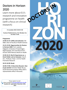EU*s new research and innovation programme