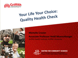 Quality Health Check - Griffith University