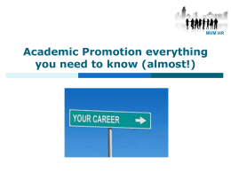 The University of Edinburgh Promotion Process for Academics